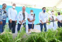 El presidente Luis Abinader, el ministro de Turismo, David Collado, autoridades de las Galeras y hoteleros comienzan obras de desarrollo.